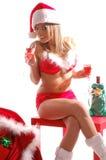 Sexy Mrs Santa Claus Royalty Free Stock Photo