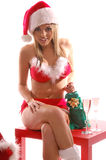 Sexy Mrs Santa Claus Royalty Free Stock Photography