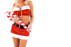 Sexy Mrs Santa Clause Royalty Free Stock Image