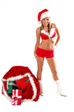 Sexy Mrs Santa Clause Stock Photography
