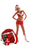 Sexy Mrs Santa Clause Stock Photos