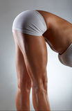 Sexy muscular body parts of a woman Royalty Free Stock Photos