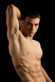 Sexy Muscular Man. Isolated on black Royalty Free Stock Image