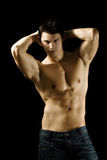 Sexy muscular man Stock Images