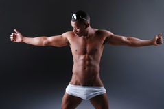Sexy muscular man. Stock Photo