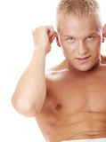 Sexy muscular man exercising Royalty Free Stock Image