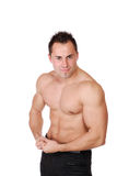 muscular man isolated on white Stock Photography