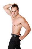 muscular man isolated on white Royalty Free Stock Photos