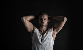 Sexy muscular young man Royalty Free Stock Photo