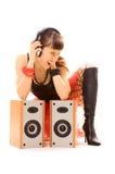 Sexy music lover Stock Photos