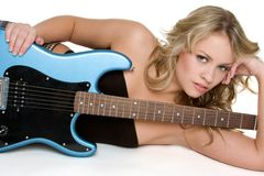 Sexy Musician Stock Image