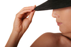 mysterious woman Stock Photo