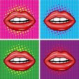 Sexy nasse rote Lippen. Lizenzfreie Stockfotos
