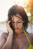 Sexy natural woman portrait Stock Photos