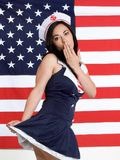 Sexy Navy Girl Royalty Free Stock Photos