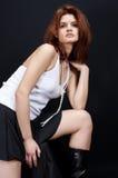 Sexy nel bianco Fotografie Stock Libere da Diritti