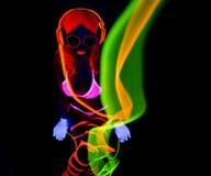 Sexy neon uv glow dancer Stock Image