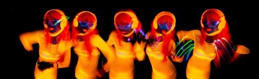 neon uv glow dancer Royalty Free Stock Photos