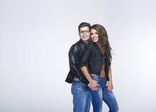 A sexy nice couple posing Stock Photography