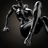 3D illustration Of Nude Woman Body Royalty Free Stock Image