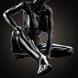 3D illustration Of Nude Woman Body Stock Image