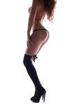 Sexy nude woman body in dance striptease Royalty Free Stock Image