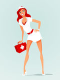 Sexy nurse vector Royalty Free Stock Photo