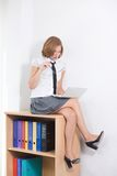 Sexy office worker Royalty Free Stock Photo