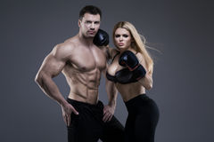 Sexy pair of athletic people Royalty Free Stock Photography