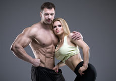 Sexy pair of athletic people Royalty Free Stock Photo