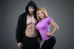 Sexy pair of athletic people Stock Photography