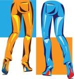 Sexy pants illustration Royalty Free Stock Photos