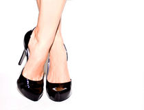 Sexy Patent Leather Pumps Stock Photography