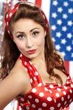 Patriotic American  Girl Stock Image