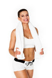 Sexy perfect brunette fitness woman Royalty Free Stock Photography