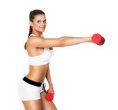 Sexy perfect brunette fitness woman Royalty Free Stock Images