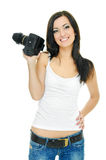 Sexy photographer Royalty Free Stock Image
