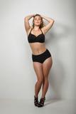 Sexy più il modello di dimensione con la figura curvy Immagine Stock Libera da Diritti