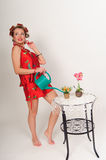 Sexy pin up housewife Stock Images