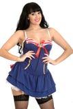 Sexy Pin Up Woman Wearing een Sexy Zeeman Dress stock afbeeldingen