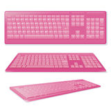 Sexy Pink Keyboard Stock Photography