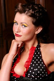 Sexy pinup girl in makeup Stock Photography