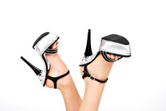 platform shoes Stock Photo