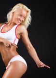 Sexy playful athlete Royalty Free Stock Image