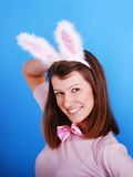Sexy playgirl with bunny ears. Royalty Free Stock Photography