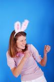 Sexy playgirl with bunny ears. Stock Photography