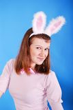 Sexy playgirl with bunny ears. Stock Photos