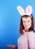 Sexy playgirl with bunny ears. Royalty Free Stock Image