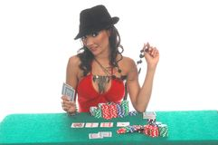 Sexy Poker Player Stock Photo