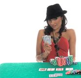 Sexy Poker Player Royalty Free Stock Image